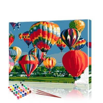 Картина по номерам Воздушные шары ArtSale размер 40х50 см