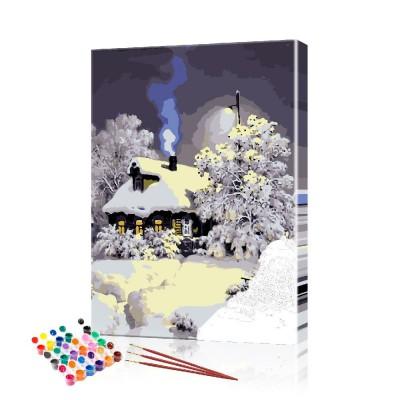 Картина по номерам Зима ArtSale размер 40х60 см
