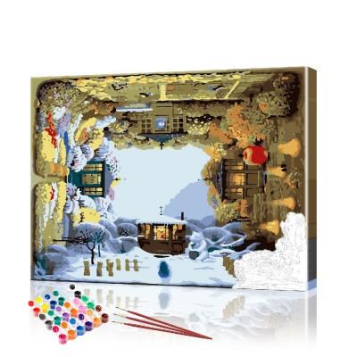 Картина по номерам Зима ArtSale размер 40х50 см
